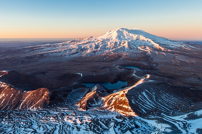 Ruapehu and Tama Lakes.