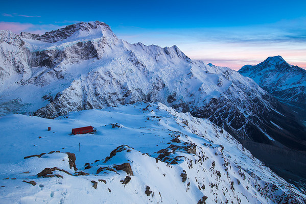 Mueller Hut, Mt Sefton, Aoraki Mount Cook and Hooker Valley